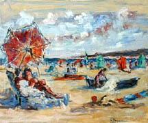 Titre: Le parasol, Artiste: FARAONI, Gaston-Luciano