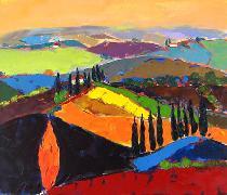 Titre: Toscane 1, Artiste: Maréchal , Marie-Ange
