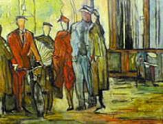 Titre: Le vélo, Artiste: Dehareng, Marc