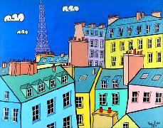 Titre: Toits de Paris, Artiste: JURIE, Dominique