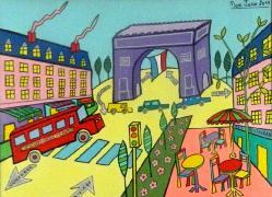 Titre: Paris - Champs Elysées, Artiste: JURIE, Dominique