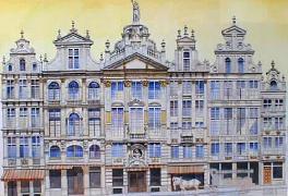 Titre: Six maisons Grand Place, Artiste: Van Damme, Josse