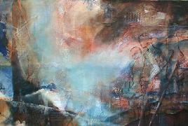 Titre: L'attente mystérieuse, Artiste: d'Andrimont, Françoise