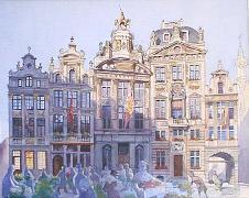 Titre: Grand Place - Marché aux légumes, Artiste: Van Damme, Josse
