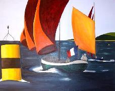 Titre: Vent arrière , Artiste: De Crayencour , Anne-Marie