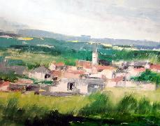 Titre: Fleurie en Beaujolais, Artiste: Remy, Madeleine