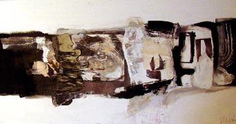 Titre: compositie in zw wit, Artiste: Van den bos, Irene
