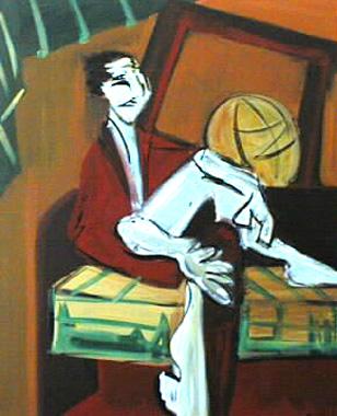 Titre: Canapé et mappemonde, Artiste: CHEVALEYRIAS, David