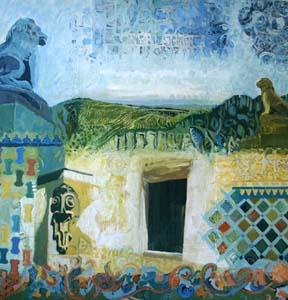 Titre: La porte des oliviers, Artiste: DELHORBE, Marion