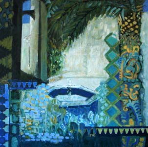 Titre: Jardin intérieur, Artiste: DELHORBE, Marion