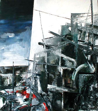 Titre: Abstract Landschap 3, Artiste: Keuller, Olivier