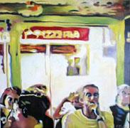 Titre: Pizzeria, Artiste: MATHE, Pascal