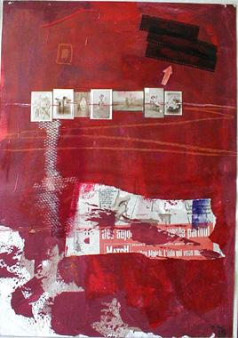 Titre: Fil rouge, Artiste: Paul, Monique