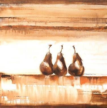 Titre: Trio de poires brunes, Artiste: Clément, Nathalie