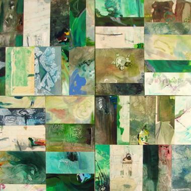 Titre: Vert X4 07, Artiste: PIGNAT, Armande