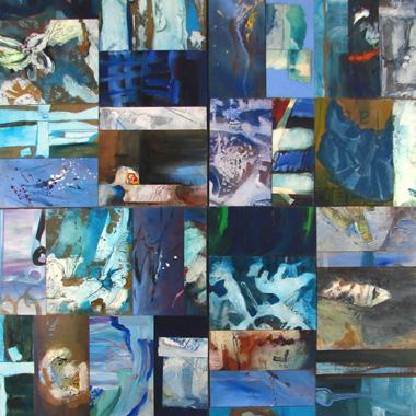 Titre: Bleu 4M1108, Artiste: PIGNAT, Armande
