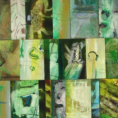 Titre: Vert TR, Artiste: PIGNAT, Armande
