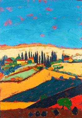 Titre: Toscane 7, Artiste: Maréchal , Marie-Ange