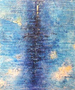 Titre: Page bleue I, Artiste: Bauwin, Miche
