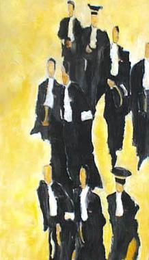 Titre: Les avocats, Artiste: Dehareng, Marc