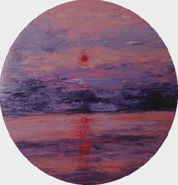 Titre: Coucher de soleil Rose, Artiste: Goulley, Geneviève