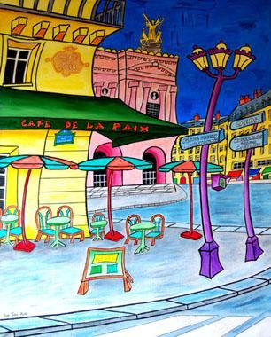 Titre: Paris Café de la Paix, Artiste: JURIE, Dominique