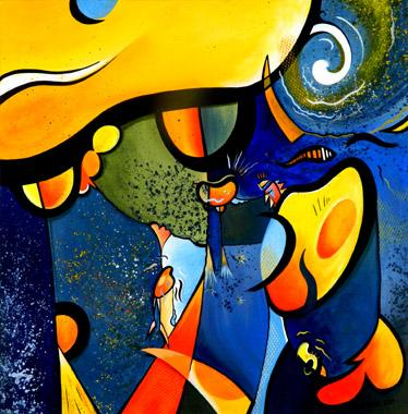 Titre: Le même de nuit, Artiste: Vanrykel, Dominique