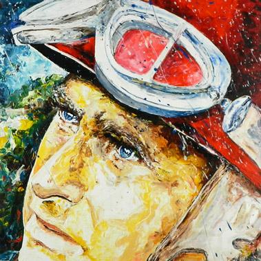 Titre: Juan Manuel Fangio, Artiste: Maes, Gilles