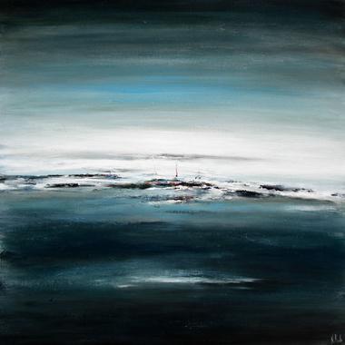 Titre: Ecrin bleu, Artiste: RUELLE, Nicolas