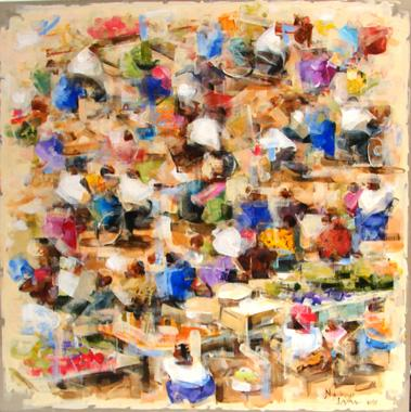 Titre: Marché africain 2, Artiste: LAMA, Niankoye