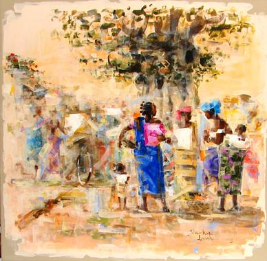 Titre: Sous le Baobab, Artiste: LAMA, Niankoye