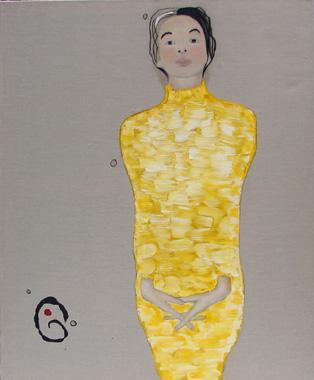 Titre: Dame jaune, Artiste: Lemarois, Fabrice