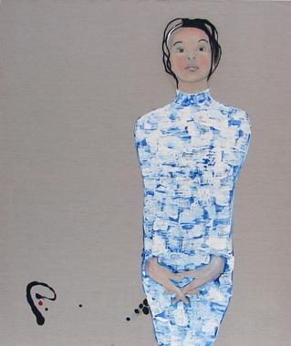 Titre: Dame bleue, Artiste: Lemarois, Fabrice
