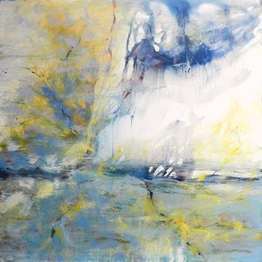 Titre: Gris bleu jaune, Artiste: DEGOY, Christine