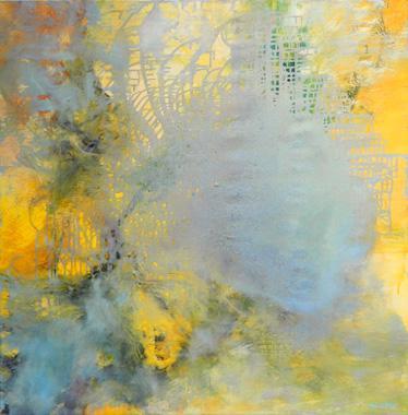 Titre: Gris bleu sur jaune, Artiste: DEGOY, Christine