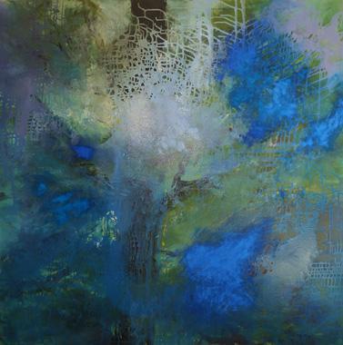 Titre: Arborescence bleue, Artiste: DEGOY, Christine