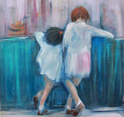 Titre: Les petites curieuses, Artiste: Pustoc'h, Laurence