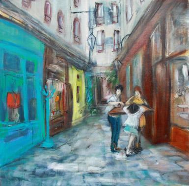 Titre: Le vieux Paris, Artiste: Pustoc'h, Laurence