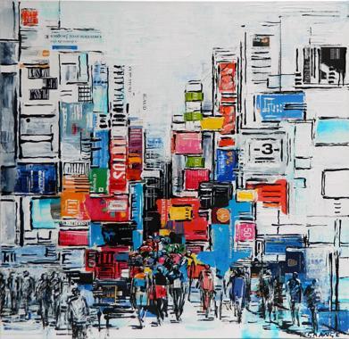 Titre: Ville du monde 1, Artiste: Grange, Nathalie
