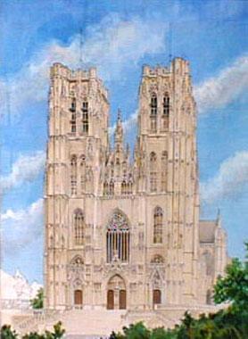 Titre: Cathédrale St Michel, Artiste: Van Damme, Josse