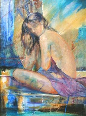 Titre: Le bain, Artiste: d'Andrimont, Françoise
