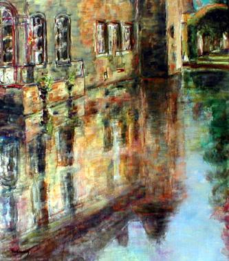 Titre: Reflets dans l'eau, Artiste: Hollanders, Marie-Andrée