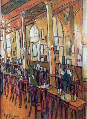 Titre: Café jaune, Artiste: Dehareng, Marc