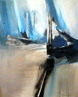 Titre: Bleu gris, Artiste: HUET, Alain