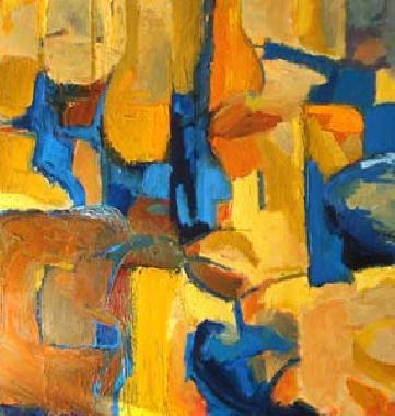 Titre: Bleus et Jaunes, Artiste: Tulkens, Michel