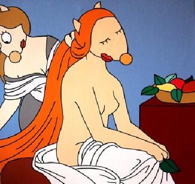 Titre: La toilette, Artiste: BELLIER, Franck