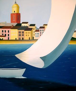 Titre: Saint Tropez, Artiste: De Crayencour , Anne-Marie