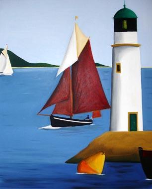 Titre: L'Homme et la mer, Artiste: De Crayencour , Anne-Marie
