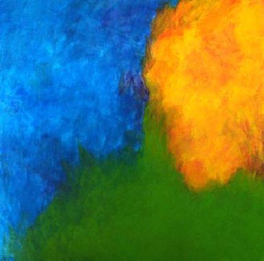 Titre: About blue, Artiste: Huy, Margit