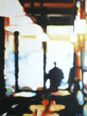 Titre: Le café, Artiste: MATHE, Pascal